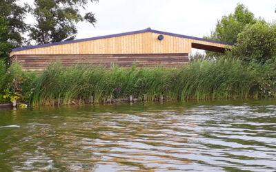 Nieuw dak voor het sanitair